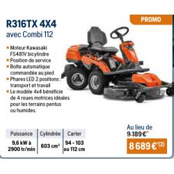 Autoportée RIDER R316TX 4X4...